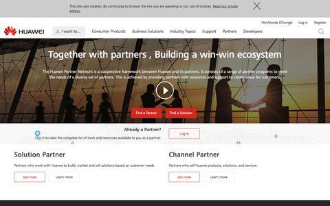 Huawei Partner Network - Huawei partners