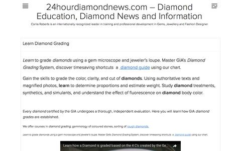 Learn Diamond Grading | 24hourdiamondnews.com – Diamond Education, Diamond News and Information