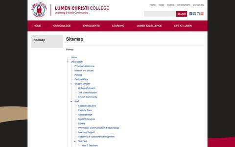 Screenshot of Site Map Page lumen.wa.edu.au - Sitemap - captured Nov. 14, 2016