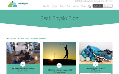 Screenshot of Blog peakphysio.ie - Peak Physio Blog | Peak Physio - captured July 16, 2018