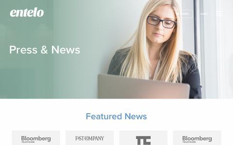 Screenshot of Press Page entelo.com - News, Media & Awards | Entelo - captured Oct. 9, 2017