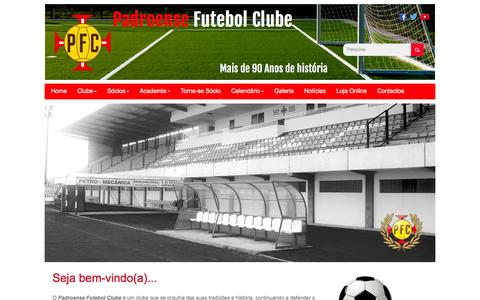 Screenshot of Home Page padroensefc.pt - Padroense Futebol Clube - captured Dec. 6, 2015