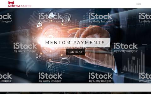 Screenshot of Home Page mentom.com - Home - Mentom Payments - captured Jan. 26, 2020