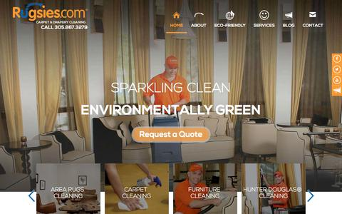 Screenshot of Home Page rugsies.com - Sparkling and clean for green environment | Rugsies - captured Sept. 21, 2018