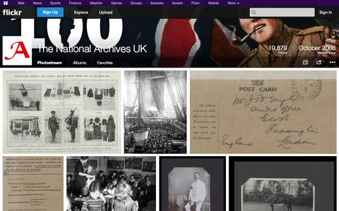 Screenshot of Flickr Page flickr.com - Flickr: The National Archives UK's Photostream - captured Oct. 26, 2014