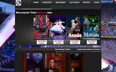 Screenshot of Home Page cheap-tickets-tour.com - Book Of Mormon Tickets: Specials Savings | New product Entrance tickets - captured Jan. 27, 2015