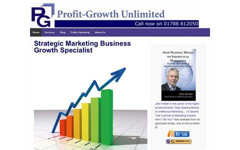 Screenshot of Home Page profit-growth.co.uk - Strategic Marketing Business Growth Specialist - Strategic Marketing Business Growth Specialist | Profit-Growth Unlimited | The Midlands, UK - captured Sept. 30, 2018