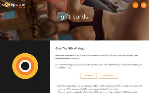 Gift Cards | CorePower Yoga