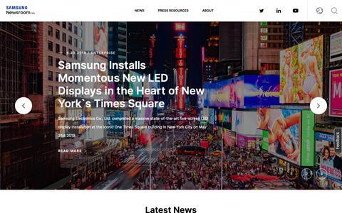 Screenshot of Press Page samsung.com - Samsung U.S. Newsroom| Latest News & inspiring stories about Samsung Electronics America - Samsung US Newsroom - captured June 20, 2019