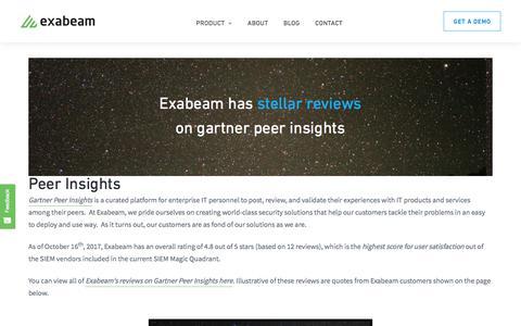 Gartner Peer Insights on Exabeam Security Intelligence Platform : Exabeam