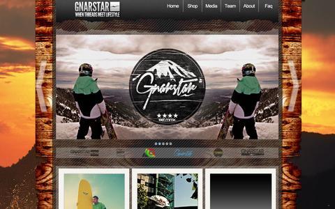 Screenshot of Home Page gnar-star.com - GNARSTAR Clothing - captured Sept. 30, 2014