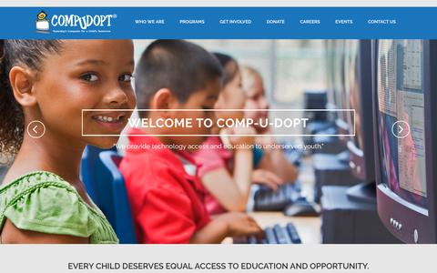 Screenshot of Home Page compudopt.org - Compudopt | Compudopt - captured Sept. 29, 2018