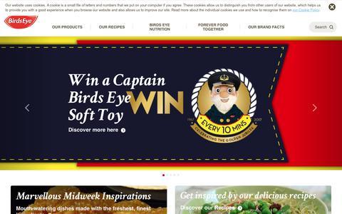 Screenshot of Home Page birdseye.co.uk - Birds Eye - Discover Our Frozen Food Range - captured Oct. 8, 2017