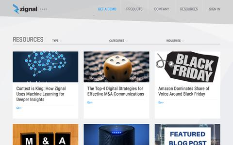 Resources |  Zignal Labs