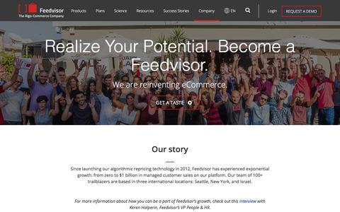 Screenshot of Jobs Page feedvisor.com - Careers at Feedvisor - Feedvisor - captured Dec. 1, 2017