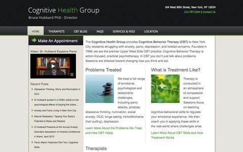 Screenshot of Home Page cognitive-behavior-therapy.com - Cognitive Behavior Therapy NYC - captured June 20, 2016