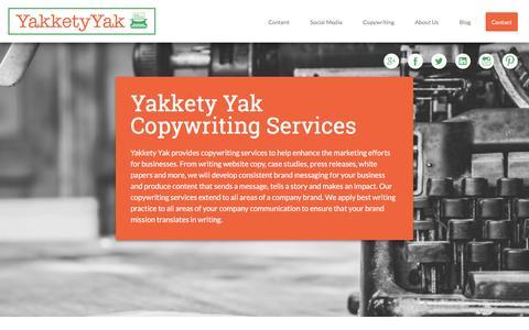 Screenshot of Case Studies Page yakketyyakllc.com - Copywriting - Yakkety Yak LLC - captured Feb. 3, 2016