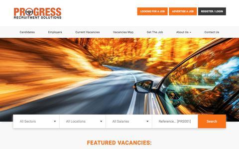 Screenshot of Home Page progressrecruitment.co.uk - Motor Trade Recruitment in Norwich, Norfolk   Progress Recruitment - captured April 26, 2018