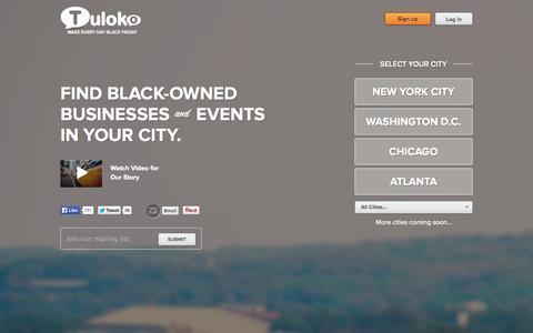Screenshot of Home Page tuloko.com - Tuloko - captured Sept. 12, 2014