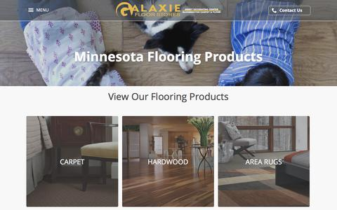 Screenshot of Products Page galaxiefloorstores.com - Flooring Products | Minneapolis St. Paul Bloomington MN - captured Oct. 10, 2017