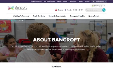 Screenshot of About Page bancroft.org - About Us | Bancroft - captured May 31, 2017