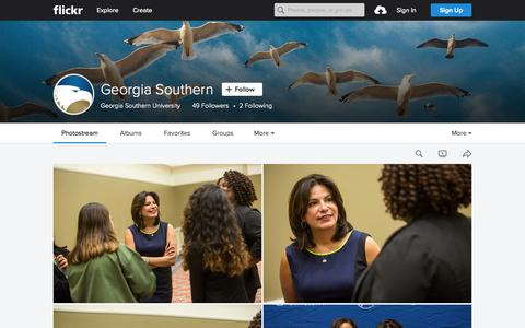 Screenshot of Flickr Page flickr.com - Georgia Southern | Flickr - Photo Sharing! - captured Oct. 1, 2015