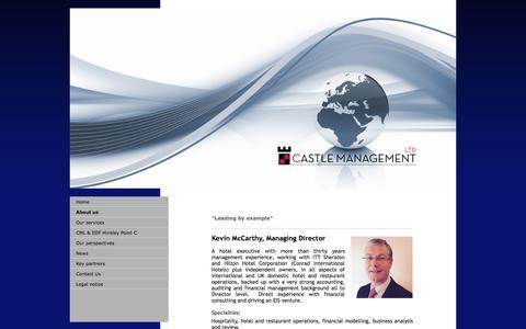 Screenshot of About Page castlemanagement.co.uk - Castle management ltd - About us - captured July 17, 2017