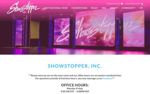 Screenshot of Contact Page goshowstopper.com - CONTACT US - Showstopper Showstopper - captured Sept. 23, 2018
