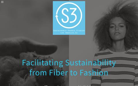 Screenshot of Home Page s3source.com - Facilitating sustainability from fiber to fashion - captured Nov. 26, 2016