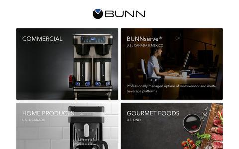 Screenshot of Home Page Terms Page bunn.com - BUNN - Bunn-O-Matic Corporation - captured July 14, 2019