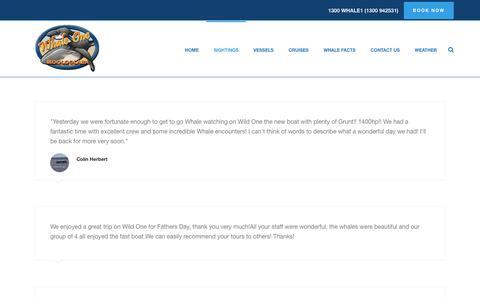 Screenshot of Testimonials Page whaleone.com.au - Testimonials - Whale One - captured June 13, 2017