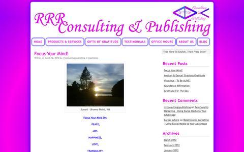 Screenshot of Blog rrrconsulting-publishing.com - Blog | Robin R. Robbins Consulting & Publishing - captured Sept. 30, 2014