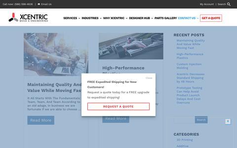 Screenshot of Blog xcentricmold.com - Blog | Xcentric Mold & Engineering - captured Feb. 16, 2020