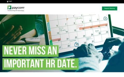 2017 HR & Payroll Calendar | Paycom