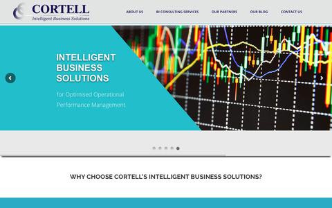 Screenshot of Home Page cortell.co.za - Business Intelligence with Cortell Corporate Performance Management - captured Sept. 29, 2018