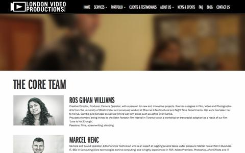 Screenshot of Team Page londonvideoproductions.co.uk - London video production Team | London Video Productions - captured July 23, 2018