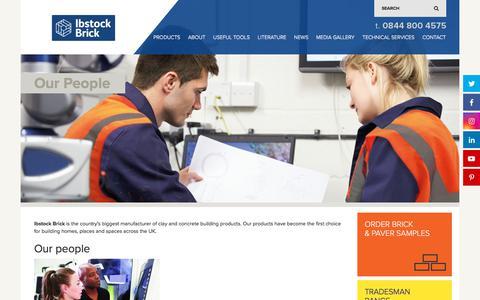 Screenshot of Team Page ibstockbrick.co.uk - Our People | Ibstock Brick - captured July 13, 2019