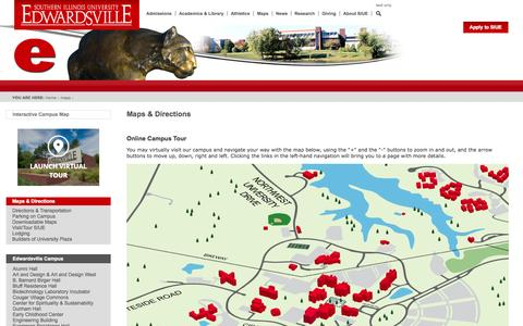 SIUE Maps and Directions - Virtual Tour
