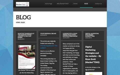 Screenshot of Blog market-ting.com - BLOG - Market*TING - captured Oct. 27, 2014
