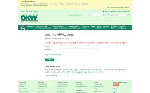 Screenshot of Login Page okw.co.uk - Login - captured Oct. 26, 2014