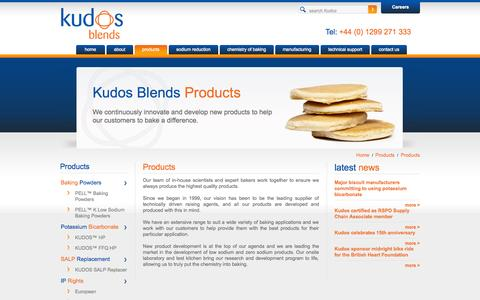 Screenshot of Products Page kudosblends.com - Products - Kudos Blends Limited - captured Sept. 30, 2014