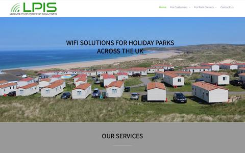 Screenshot of Home Page lpis-uk.com - Leisure Park Internet Solutions – Suppliers of quality WiFi solutions to caravan and holiday parks across the UK - captured Nov. 10, 2018