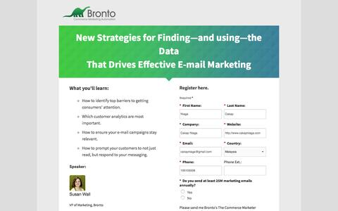 Screenshot of Landing Page bronto.com - Bronto | On-Demand Webinar - captured April 15, 2016