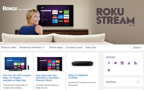 Screenshot of Blog roku.com - The Official Roku Blog - captured March 19, 2016