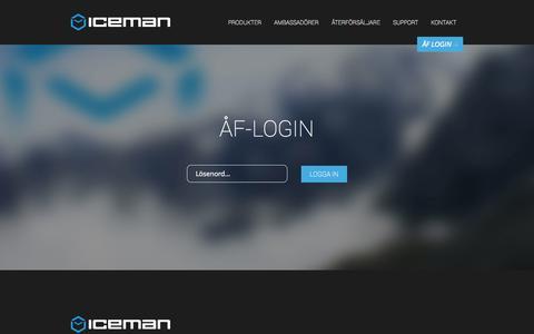 Screenshot of Login Page iceman.se - ÅF-login | Iceman - captured Nov. 3, 2014