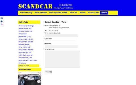 Screenshot of Contact Page scandcar.nl - Contact   Scandcar.nl - captured Oct. 5, 2014