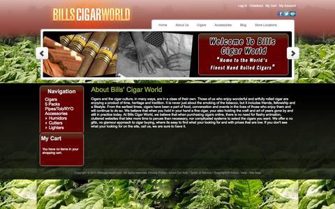 Screenshot of About Page billscigarworld.com - About  Us - captured Oct. 4, 2014