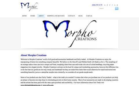 Screenshot of About Page morphocreations.com - About - Morpho Creations - Life, Beauty, Change.  - Morpho Creations - Life, Beauty, Change - captured Sept. 30, 2014