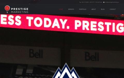 Screenshot of Home Page prestigemarketing.ca - Prestige Marketing - Internet Marketing Company in Vancouver, BC - captured Sept. 19, 2014