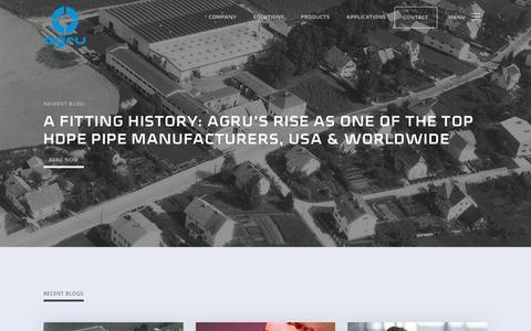 Screenshot of Blog agruamerica.com - Read the Latest Blog from AGRU America - captured Jan. 10, 2020